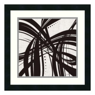 ''Whip It II'' Abstract Framed Wall Art
