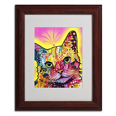 """""""Tilt Cat"""" Framed Canvas Wall Art"""