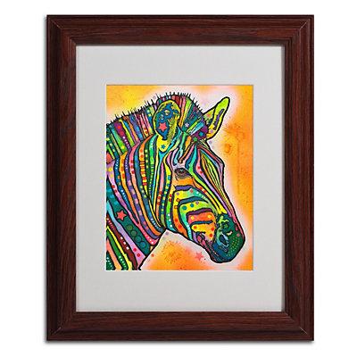 """""""Zebra"""" Framed Canvas Wall Art"""