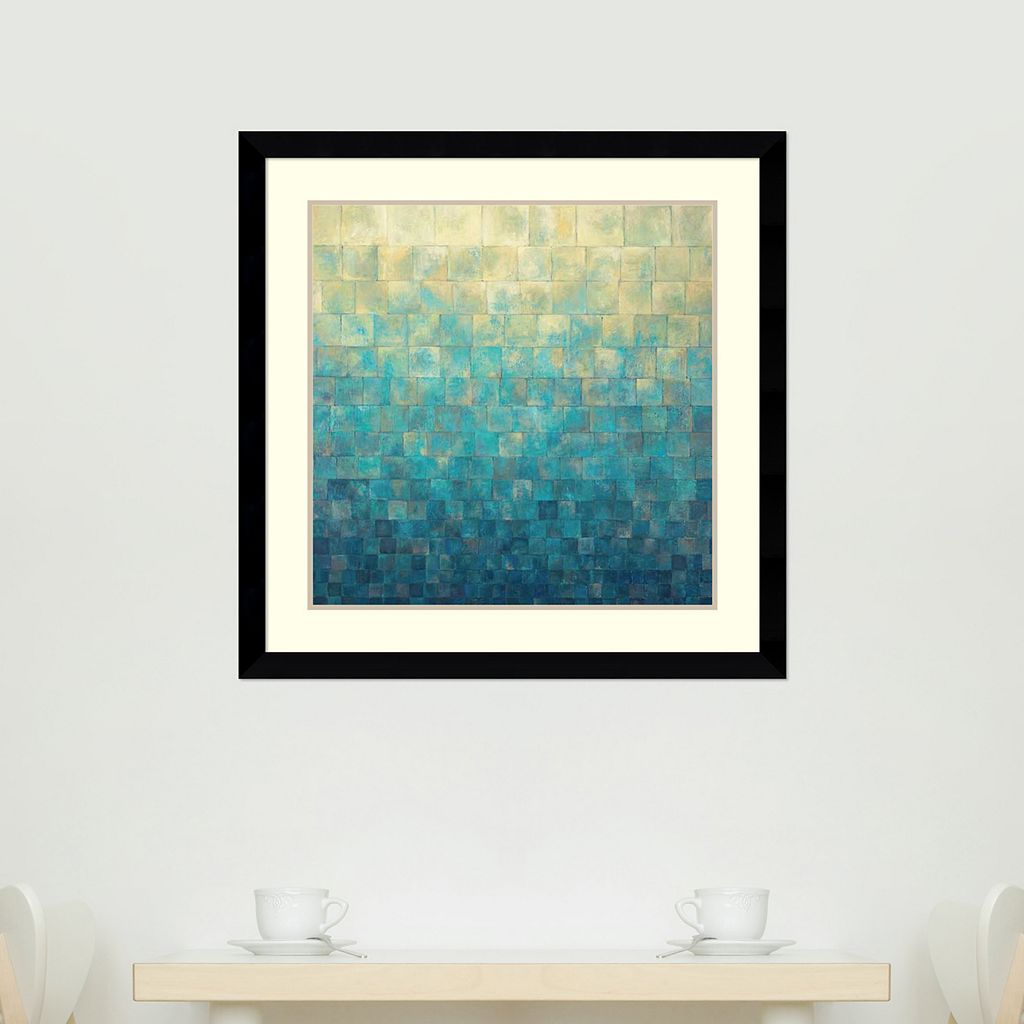 ''Cascade'' Abstract Framed Wall Art