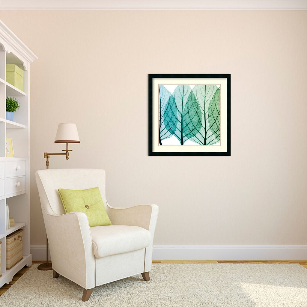 ''Celosia Leaves I'' Framed Wall Art