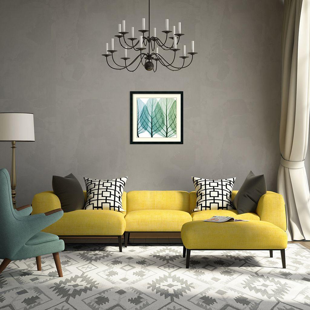 ''Celosia Leaves I'' Framed Wall Art