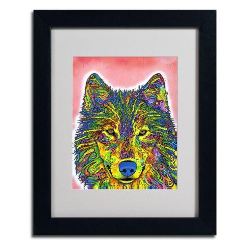 """Wolf"" Framed Canvas Wall Art"