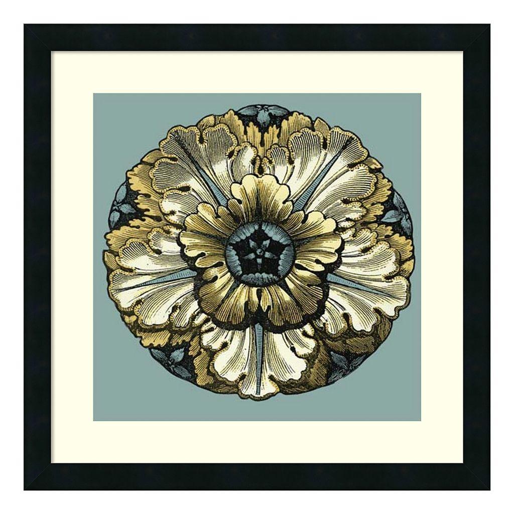 ''Floral Medallion V'' Framed Wall Art