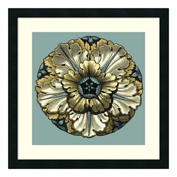 ''Floral Medallion V'' Framed Wall Art