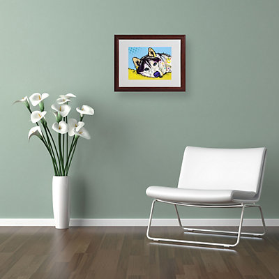 11'' x 14'' ''Siberian Husky II'' Framed Canvas Wall Art