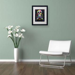 14'' x 11'' ''Skull and Guns'' Framed Canvas Wall Art