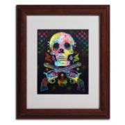 14'' x 11'' ''Skull & Guns'' Framed Canvas Wall Art