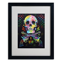 20'' x 16'' ''Skull & Guns'' Framed Canvas Wall Art