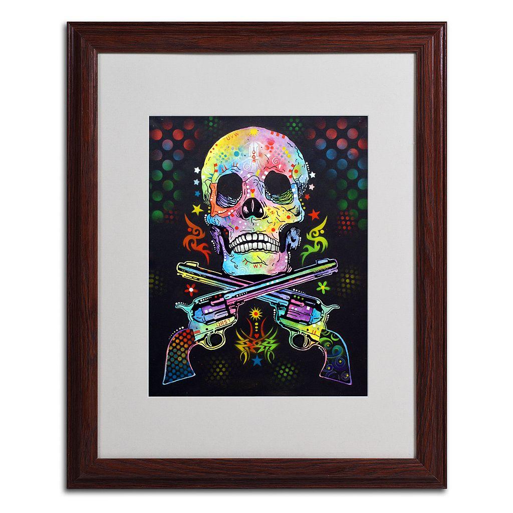 20'' x 16'' ''Skull & Guns'' Framed Canvas Wall Art