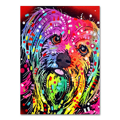 24'' x 18'' ''Yorkie'' Canvas Wall Art
