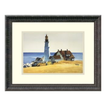 'Lighthouse and Buildings'' Framed Wall Art