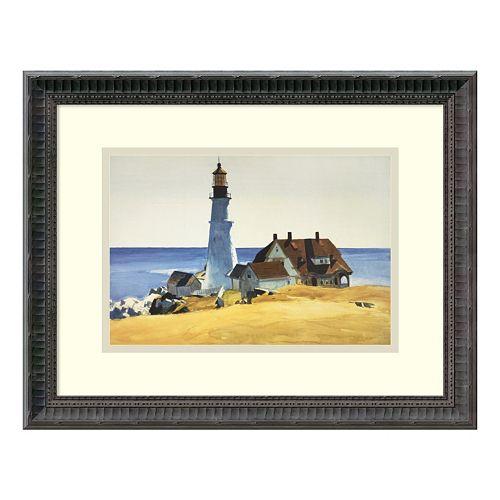 'Lighthouse & Buildings'' Framed Wall Art