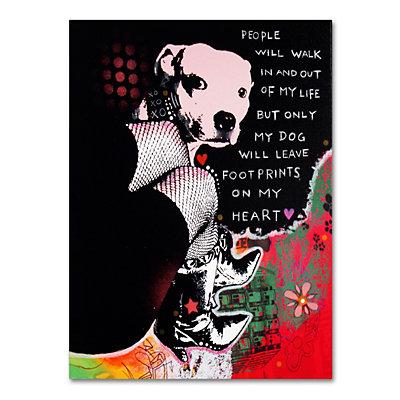 24'' x 18'' ''Girl's Best Friend'' Canvas Wall Art