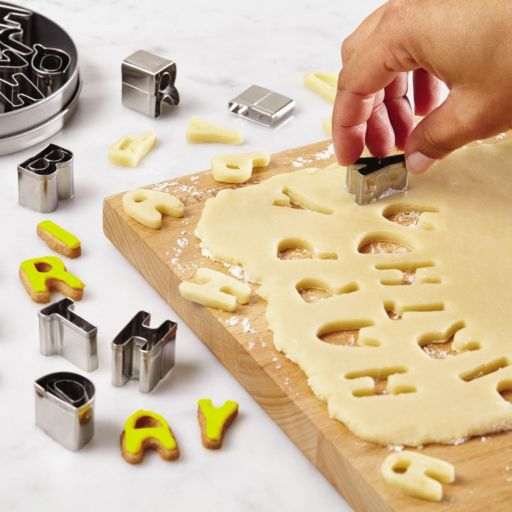 Cake Boss Decorating Tools 26-pc. Stainless Steel Alphabet Fondant and Cookie Cutter Set