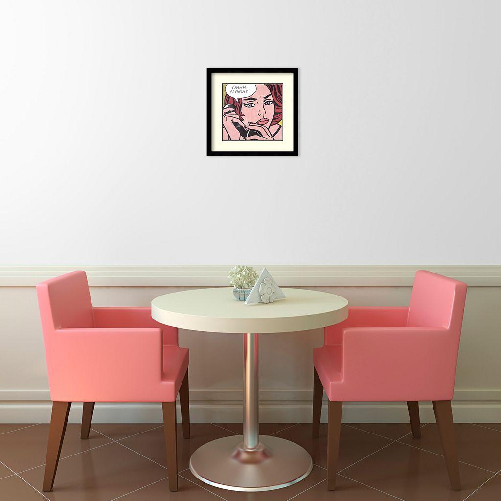 ''Oh Alright'' Framed Wall Art
