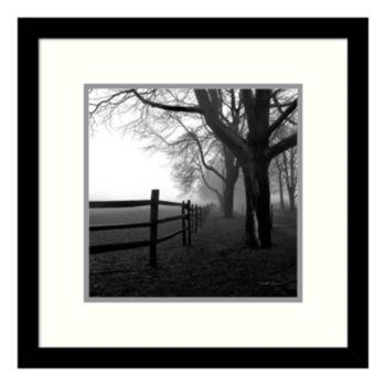 ''Corner Fence'' Tree Framed Wall Art