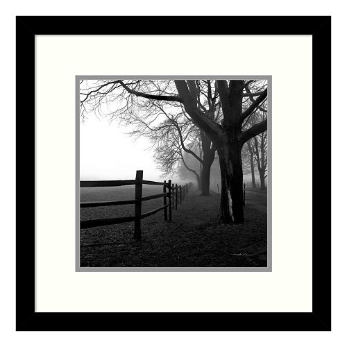 ''Corner Fence'' Tree Framed Wall Art