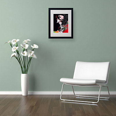 20'' x 16'' ''Girl's Best Friend'' Framed Canvas Wall Art