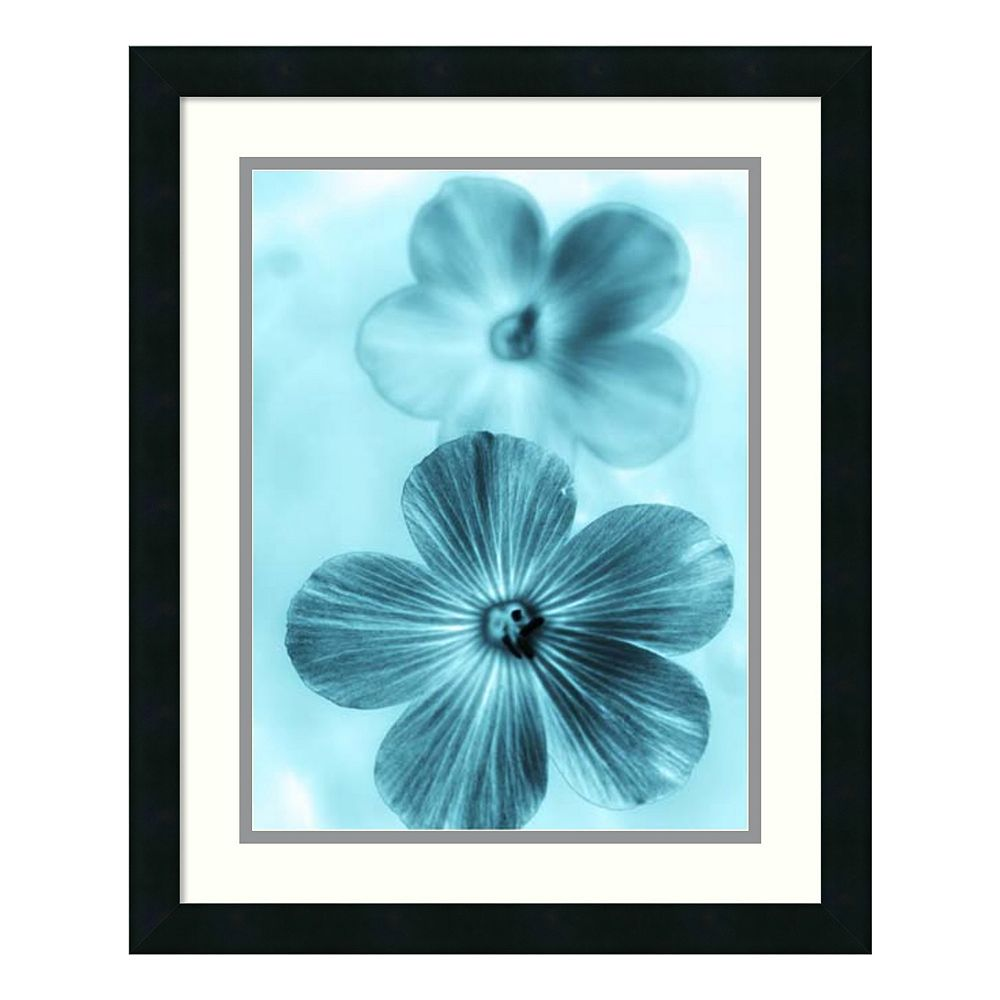 ''Forget Me Not'' Floral Framed Wall Art
