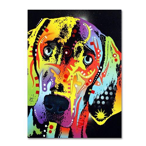 14'' x 19'' ''Weimaraner'' Dog Canvas Wall Art