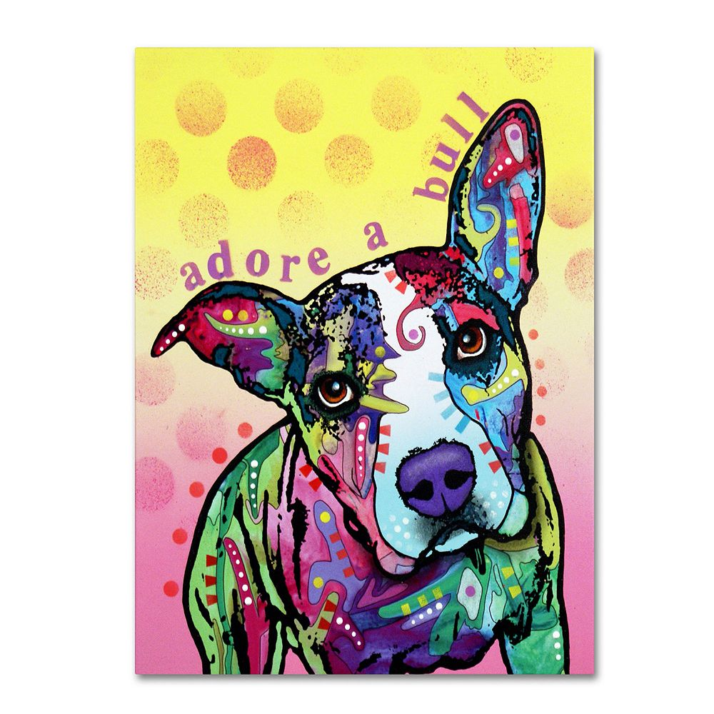 14'' x 19'' ''Adoreabull'' Dog Canvas Wall Art