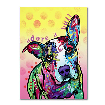 14'' x 19'' ''Adoreabull'' Dog Canvas Wall Art
