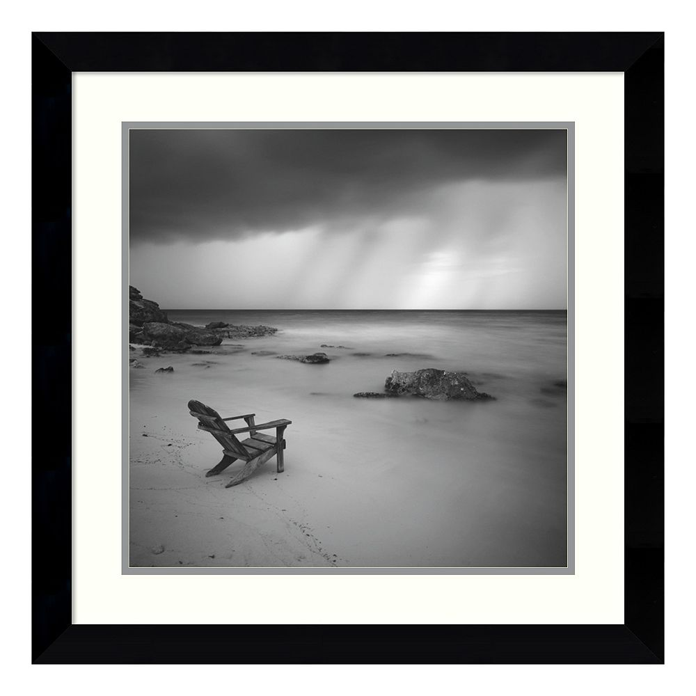 ''Storm'' Beach Framed Wall Art