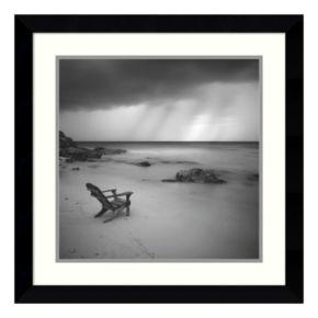 ''Storm'' Beach Framed Wall Art