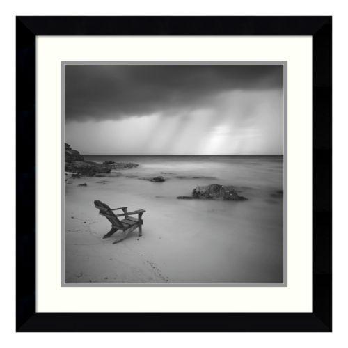 ''Storm'' Beach Framed Wall Ar...