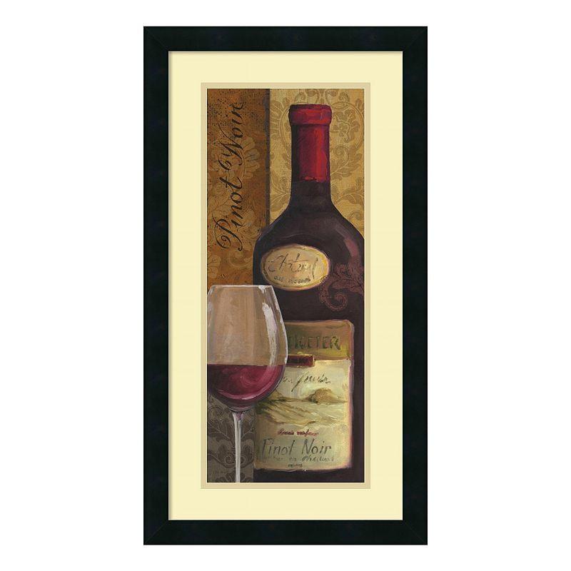 "From The Cellar Ii"" Wine Framed Wall Art, Black"