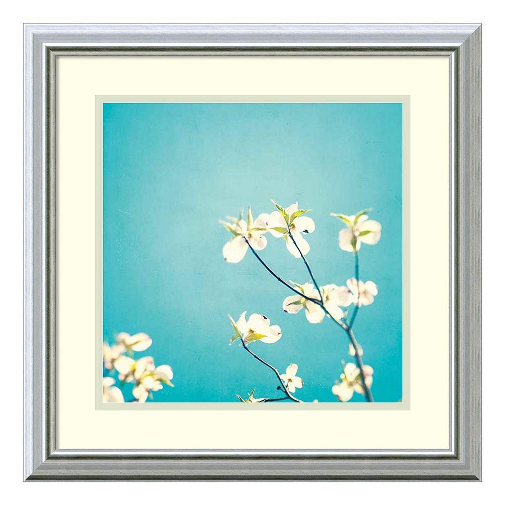 ''Delicate'' Floral Framed Wall Art