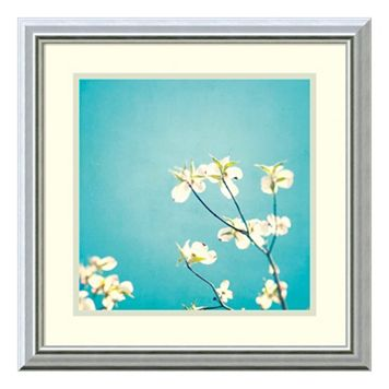 ''Delicate'' Floral Framed Wall Art