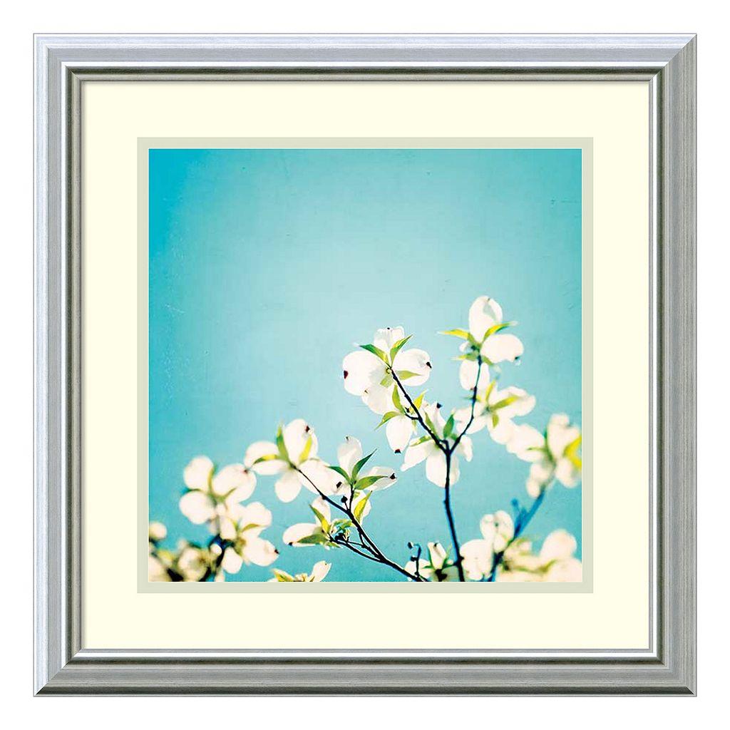 ''Skies of Blue'' Floral Framed Wall Art