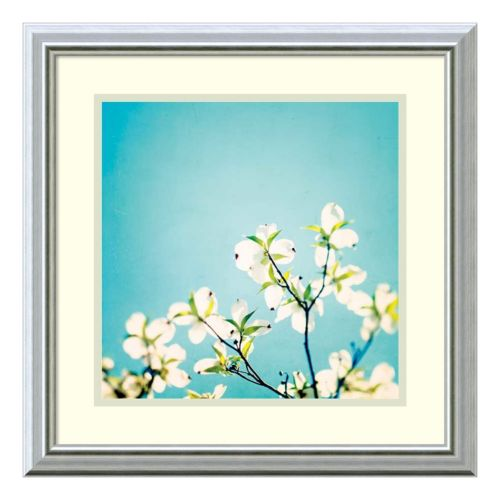 """Skies of Blue"" Floral Framed Wall Art"