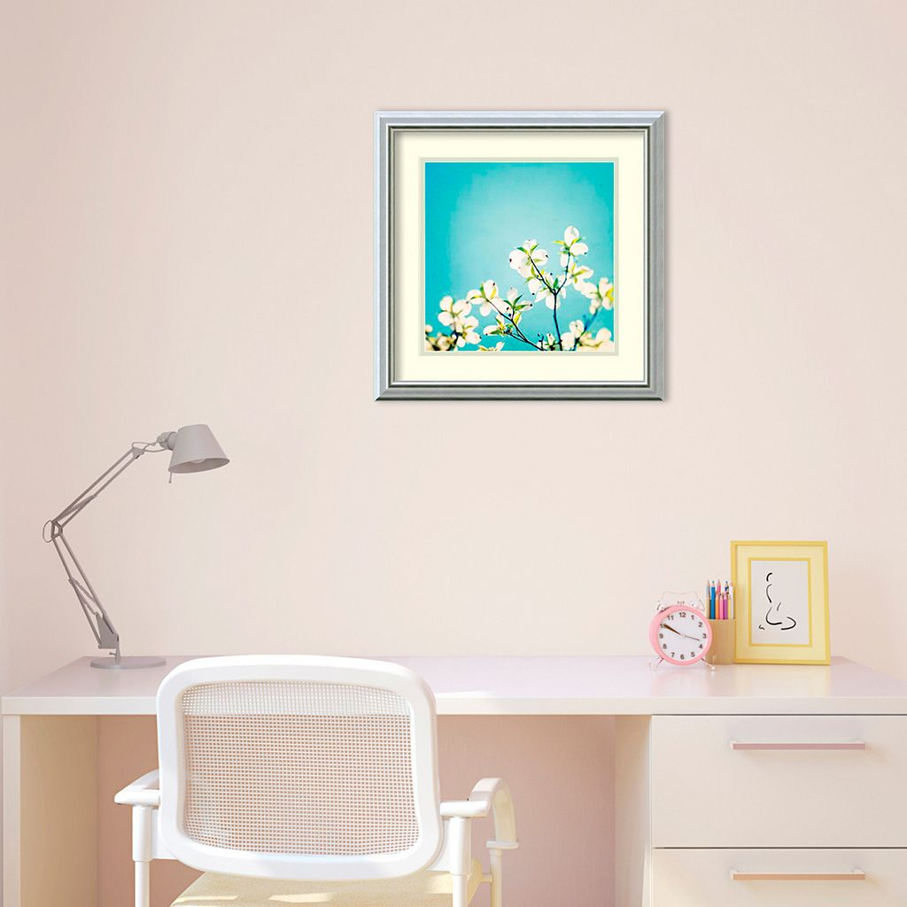 ''Skies of Blue'' Floral Framed Wall Art