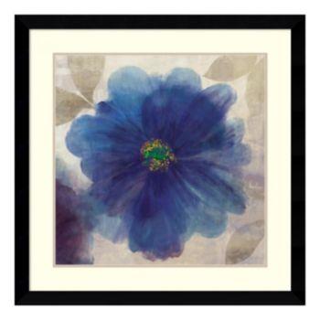 ''Indigo Dreams I'' Floral Framed Wall Art