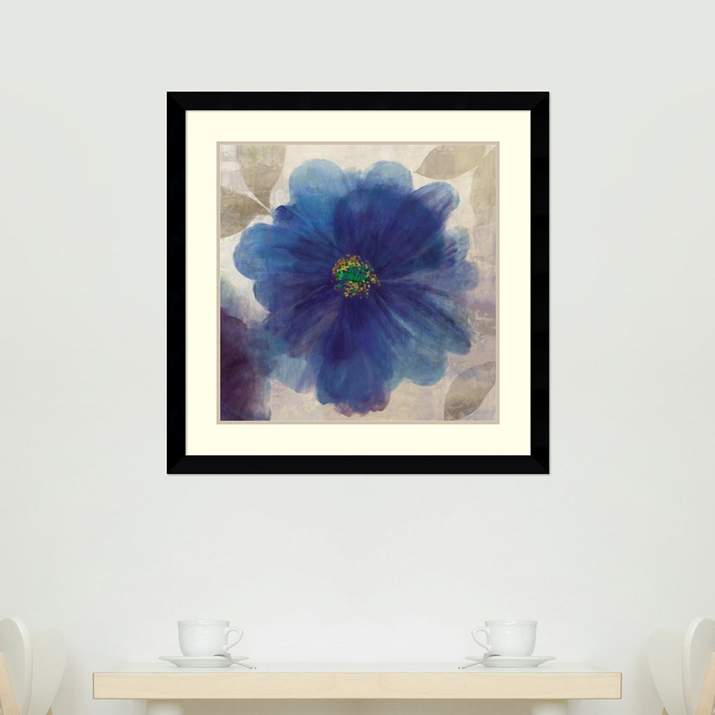 ''Indigo Dreams I'' Floral Framed Wall Art