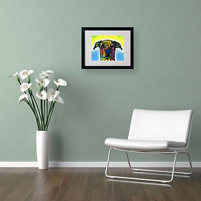 "''Fiesta'' 16"" x 20"" Dog Framed Canvas Wall Art"
