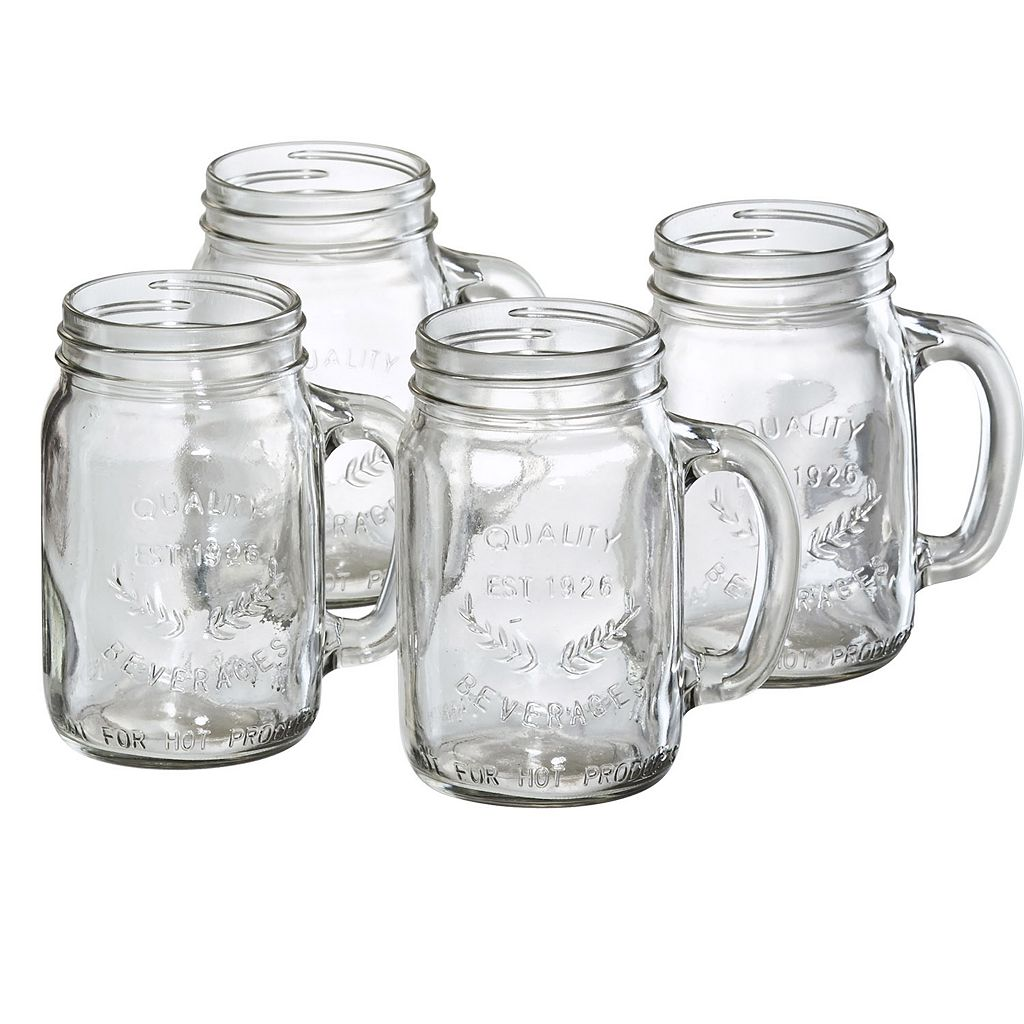 Artland Oasis 4-pc. Glass Mason Jar Set