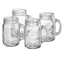 Artland Oasis 4 pc Glass Mason Jar Set