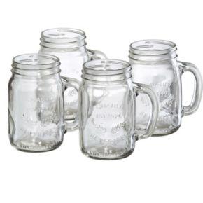 Artland Partyware 4-pc. Glass Mason Jar Set