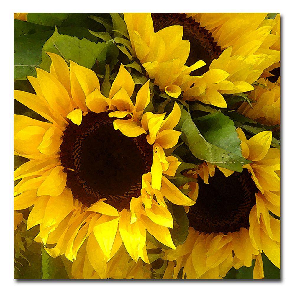 18'' x 18'' ''Sunflowers'' Canvas Wall Art