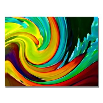 24'' x 18'' ''Crashing Wave'' Canvas Wall Art