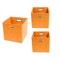 Modern Littles 3 pc Solid Storage Bin Set