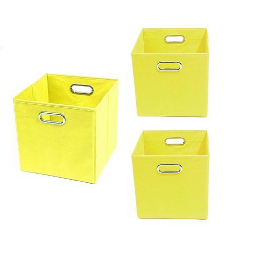 Modern Littles 3-pc. Solid Storage Bin Set