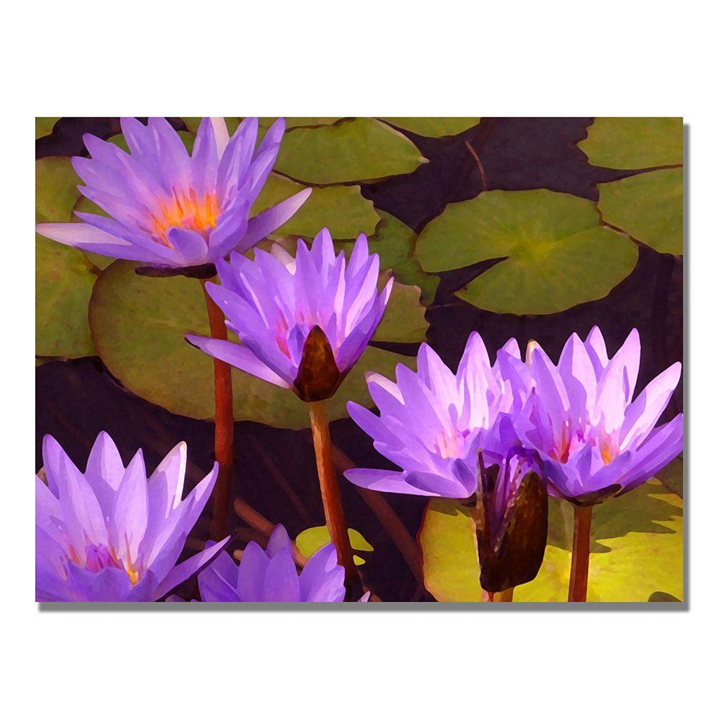 32'' x 24'' ''Water Lilies'' Canvas Wall Art
