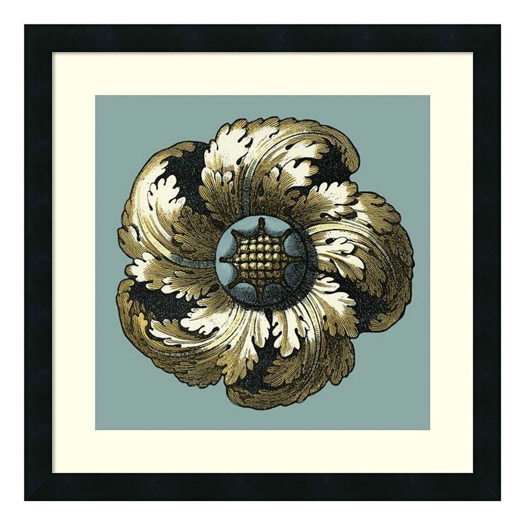 ''Floral Medallion II'' Framed Wall Art