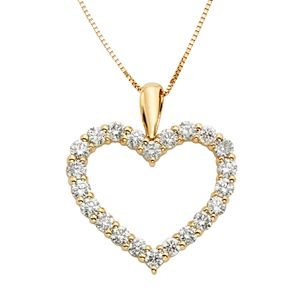 12 carat tw igl certified diamond 14k gold heart pendant necklace carat tw igl certified diamond 14k gold heart pendant necklace 1 sale aloadofball Image collections