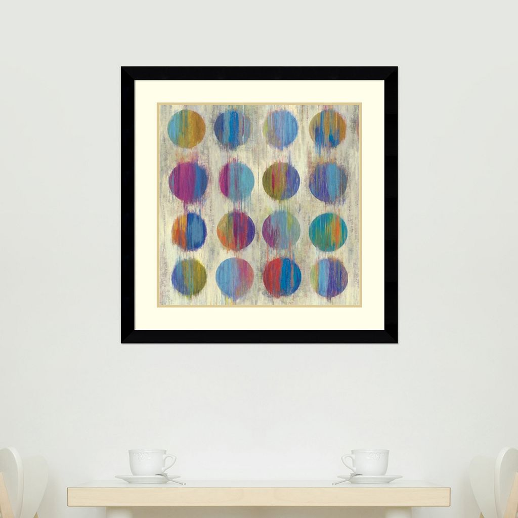 ''Ikat Dots II'' Framed Wall Art